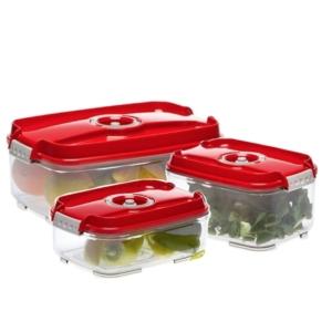 Status doboz szett (3 db piros vákuumtároló doboz:1,4L + 2L + 3L)