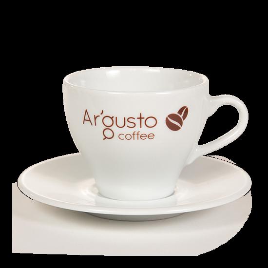 Ar'Gusto porcelán kávéscsésze és alj (1 db, Capuccino)