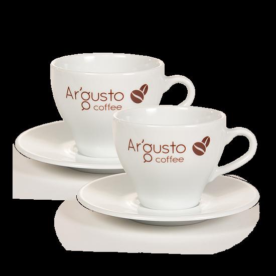 Ar'Gusto porcelán kávéscsésze és alj (2 db, Capuccino)