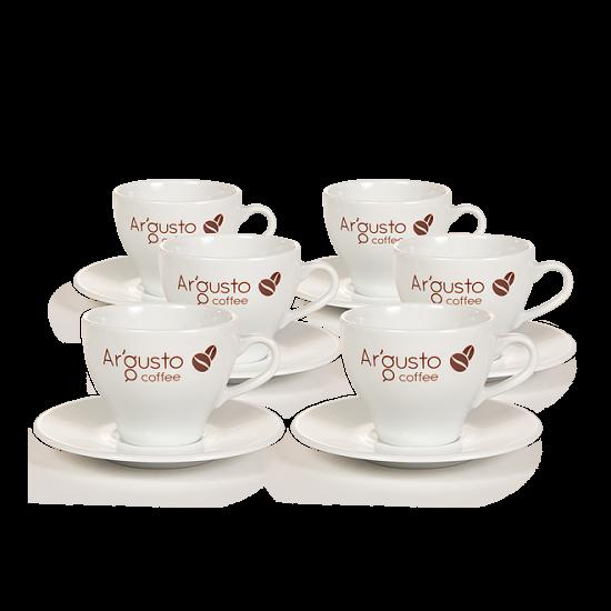 Ar'Gusto porcelán kávéscsésze és alj (6 db, Capuccino)