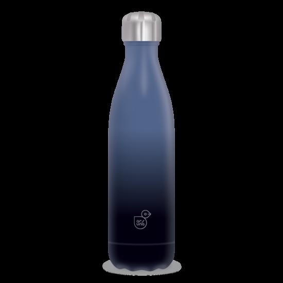 Duplafalú fémkulacs - Kék / Fekete ( 500ml )