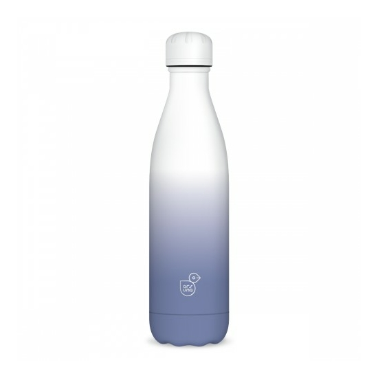 Duplafalú fémkulacs - Fehér / Lila ( 500ml )