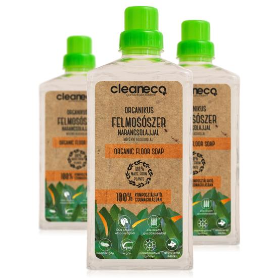 Organikus felmosószer- komposztálható csomagolásban 1 L (Narancsolaj)