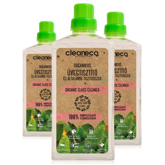 Organikus üvegtisztító és Általános tisztítószer-komposztálható/újrahasznosított csomagolásban (1 L)