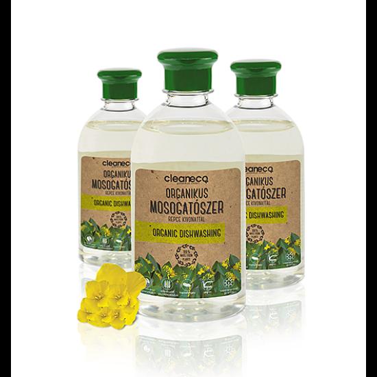 Organikus kézi mosogatószer repce kivonattal újrahasznosított csomagolásban (0,5 L)