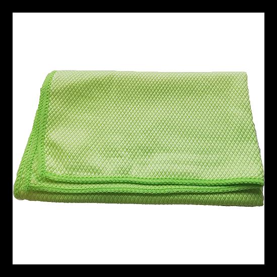 Mikroszálas törlőkendők (zöld, 1 db, Üvegtörlő, 65x45)