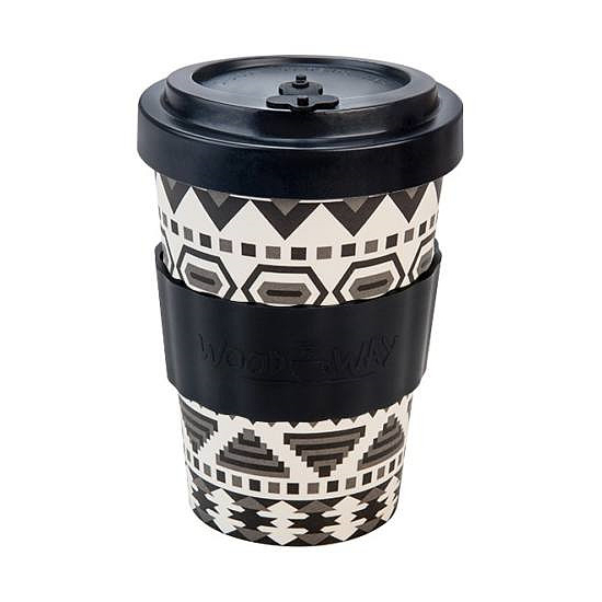 Bambuszpohár (Aztec White and Black, 400 ml)
