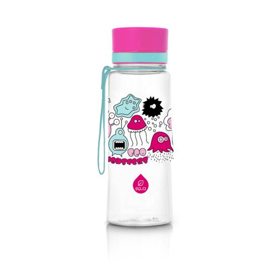 BPA mentes kulacs - 600ml (Rózsaszín szörny)