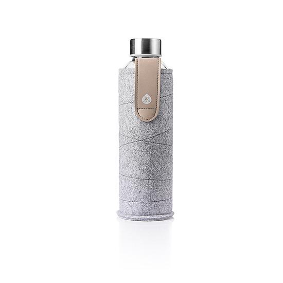 Kézzel készült filc borítású üvegkulacsok - 750 ml (Homok)