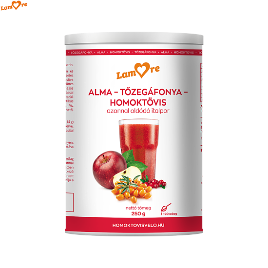 Immunerősítő italpor koncentrátum-Homoktövis, Alma, Tőzegáfonya (250g)