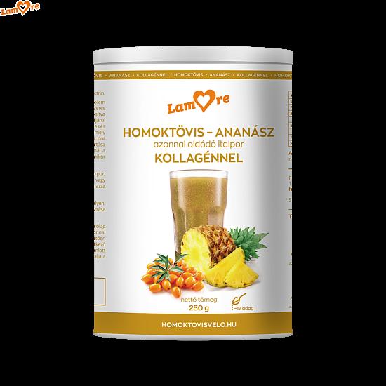 Immunerősítő italpor koncentrátum-Homoktövis és Ananász Kollagénnel (250g)