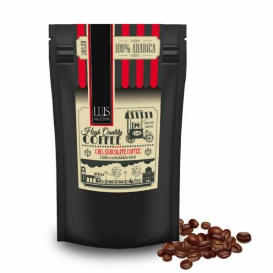 Luis kávék (90 g, Szemes babkávé, Chilis csokoládé)
