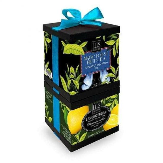 Szett - Varázserdő gyümölcsei tea és Citrom ízű cukor