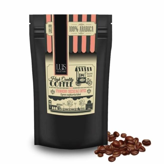 Luis kávék (90 g, Szemes babkávé, Epres sajttorta )