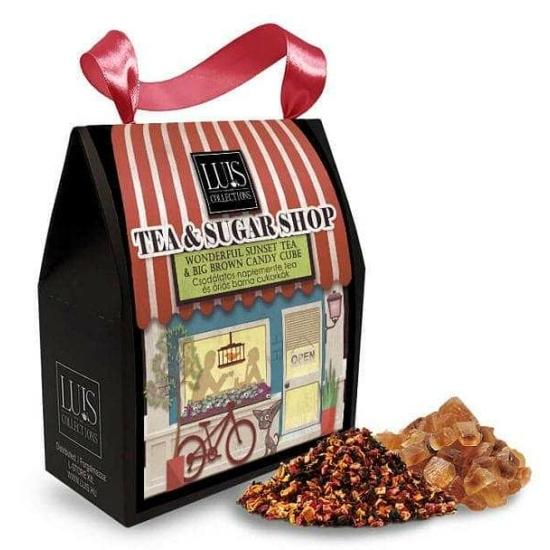 Tea & sugar shop- Tea és óriás barna cukorkák (Csodálatos naplemente tea)