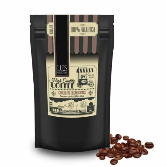 Luis kávék (90 g, Szemes babkávé, Krémes csokoládé)