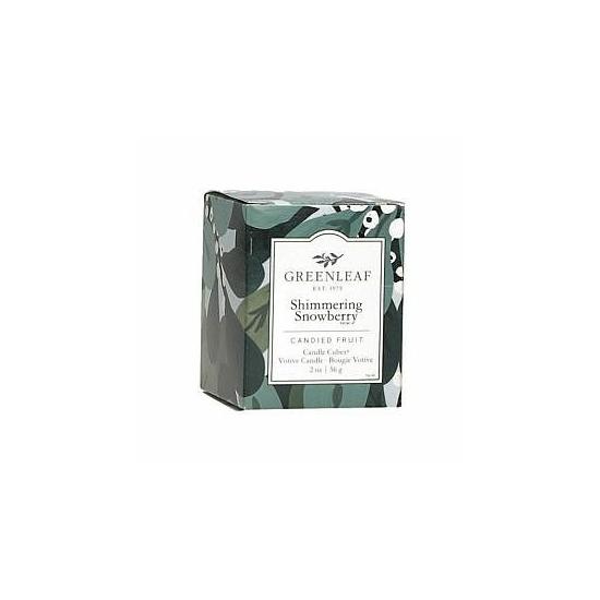 Greenleaf Illatgyertya dobozos (56g, Shimmering Snowberry)