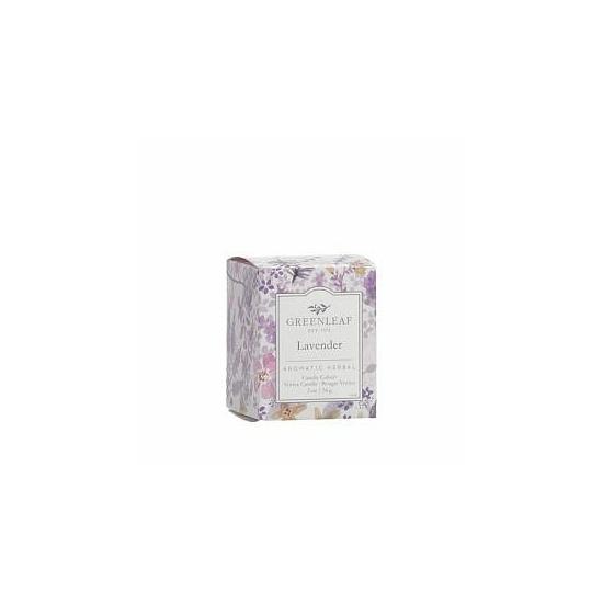 Greenleaf Illatgyertya dobozos (56g, Lavender)