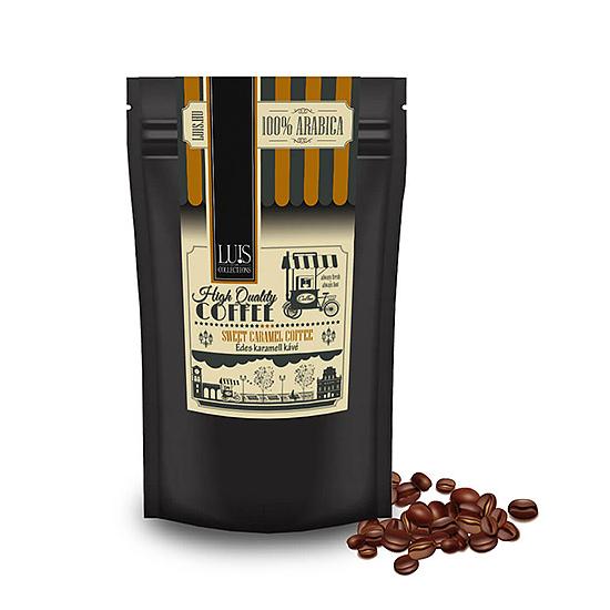 Luis kávék (90 g, Szemes babkávé, Édes karamell)
