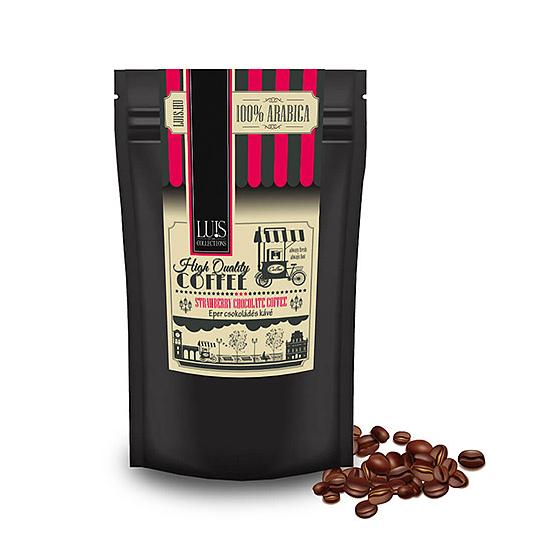 Luis kávék (90 g, Szemes babkávé, Eper csoki)