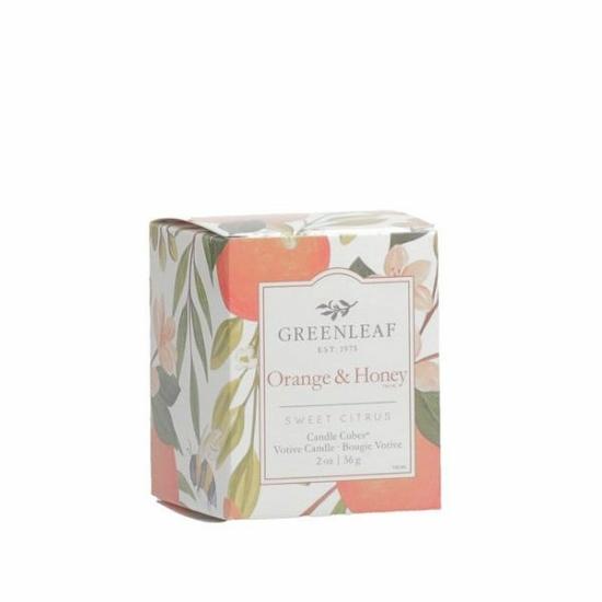 Greenleaf Illatgyertya dobozos (56g, Orange&Honey)