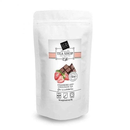 Tasakos tea (80 g, Eper és csokoládé)