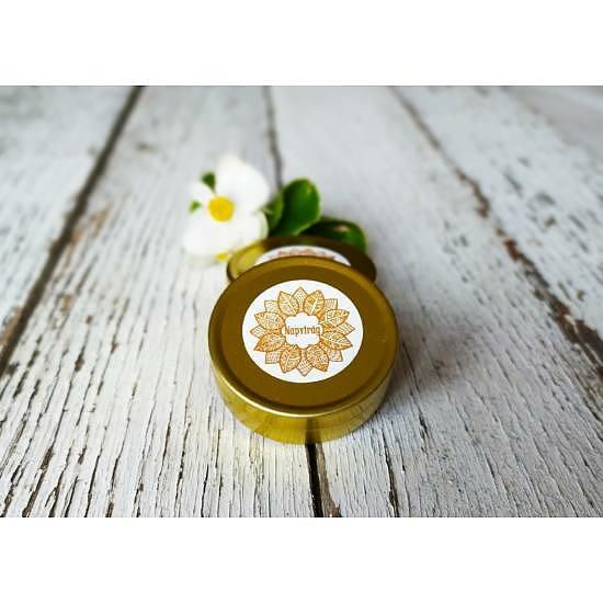 Ajakbalzsam extraszűz kókuszolajjal, diós-mézes-narancsos fém tégelyben (5g)