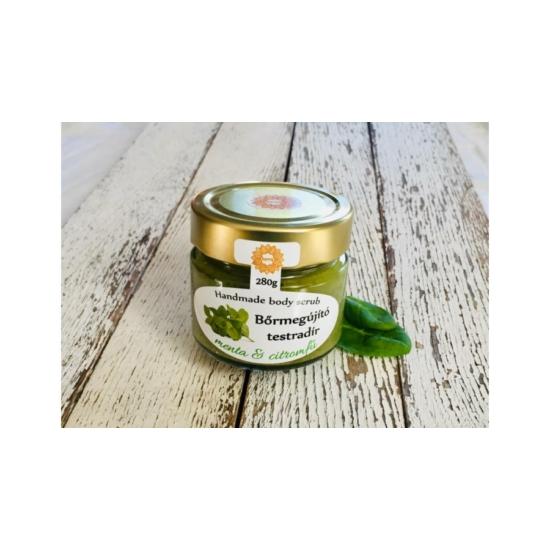 Bőrradír Menta-Citromfű, parajdi sóval és organikus olajokkal 280g