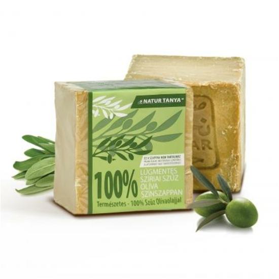 Lúgmentes, 100%-os aleppói szűz olíva színszappan