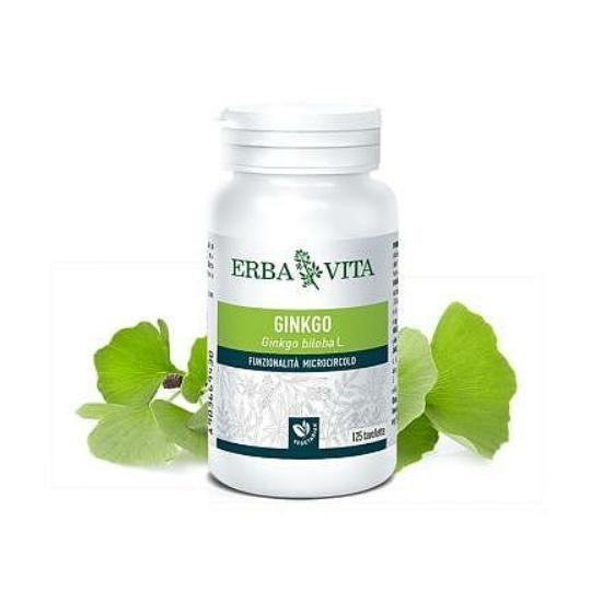 ErbaVita® Mikronizált Ginkgo biloba/Páfrányfenyő tabletta (125 db)