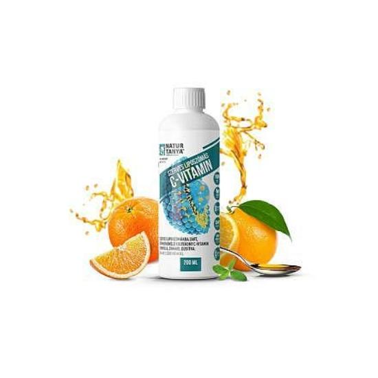 Liposzómás C-vitamin+cink folyékony formában (40 adag, 200 ml)