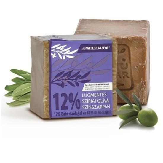 Najel szíriai Oliva színszappan - 12% Babérfaolaj és 88% Olívaolaj