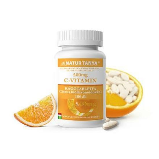 Szerves C-vitamin 500 mg narancs ízű rágótabletta (100 db)