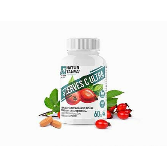 Szerves C Ultra 1500 mg Retard C-vitamin, csipkebogyó kivonattal (60 db)