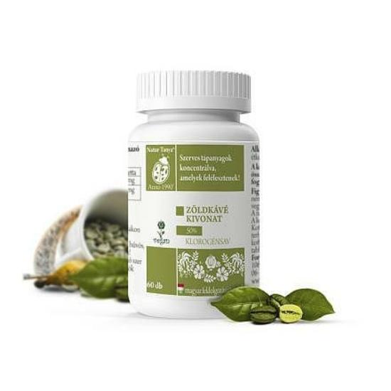 Szerves Zöld kávé tabletta (60 db)