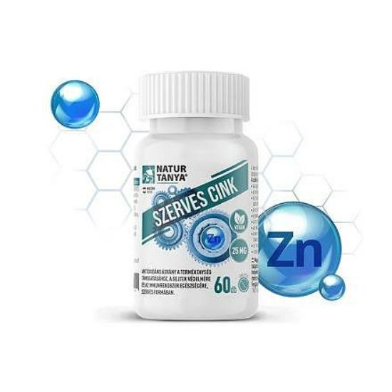 Szerves Cink 25 mg (60 db)