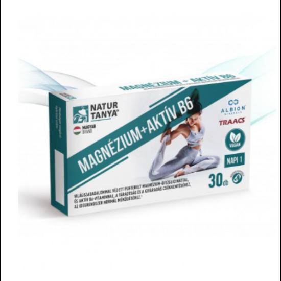 Vegán magnézium + aktív B6-vitamin (30 db)