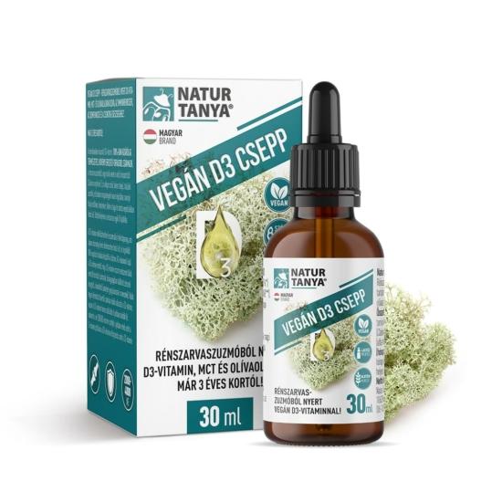 Vegán D3-vitamin csepp rénszarvaszuzmóból