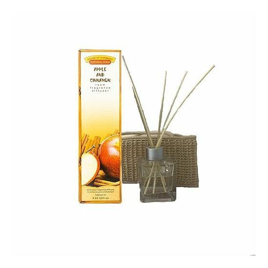 Bambuszpálcás illatosító alma és fahéj illat (120ml, Apple & Cinnamon)