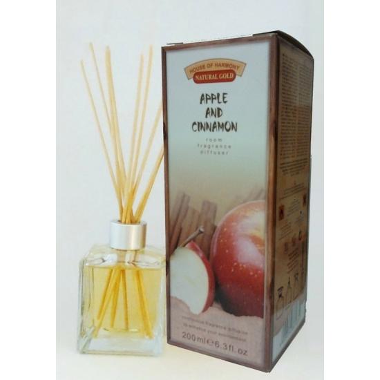 Bambuszpálcás illatosító alma és fahéj illat (200ml, Apple & Cinnamon)