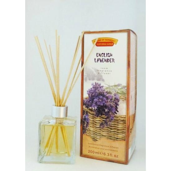 Bambuszpálcás illatosító angol levendula illat (200ml, English Lavander)