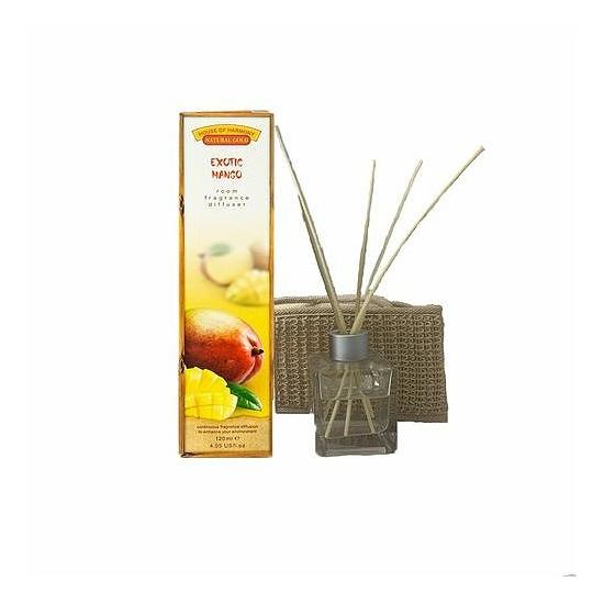 Bambuszpálcás illatosító egzotikus mangó illat (120ml, Exotic Mango)