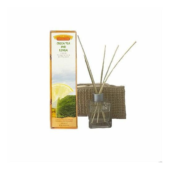 Bambuszpálcás illatosító zöld tea és citrom illat (120ml, Green Tea & Lemon)