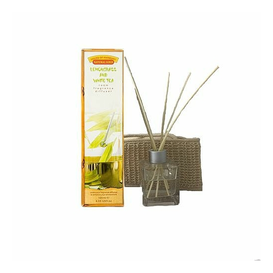 Bambuszpálcás illatosító citrom és fehér tea illat (120ml, Lemongrass & White Tea)