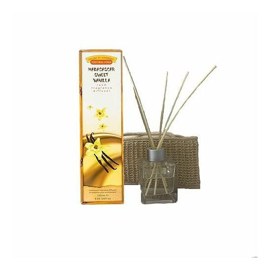 Bambuszpálcás illatosító madagaszkári édes vanília illat (120ml, Madagascar Sweet Vanilla)