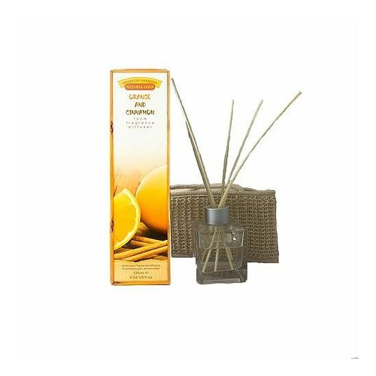 Bambuszpálcás illatosító narancs és fahéj illat (120ml, Orange & Cinnamon)