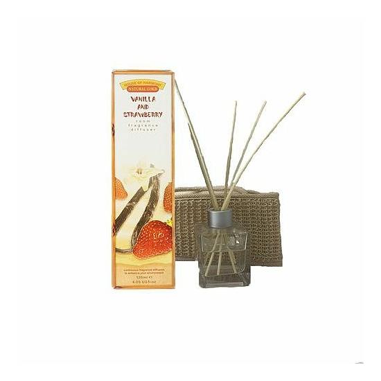 Bambuszpálcás illatosító vanília és eper illat (120ml, Vanilla & Strawberry)