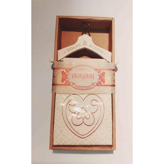 PurPur Box Szívszappan Vállfával (Hölgyeknek)