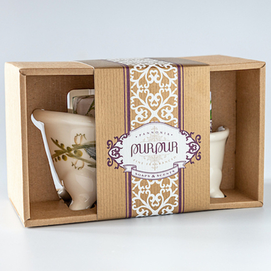 PurPur Box Kád+Szappan (Gyöngyvirág)