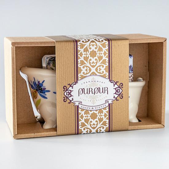 PurPur Box Kád+Szappan (Búzavirág)